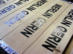 Wood Pallet Collars with logo